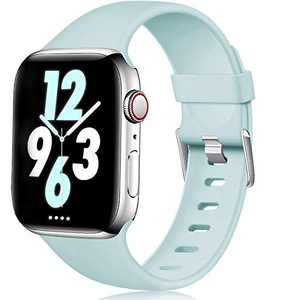 Laffav Band Compatible with Apple Watch 40mm 38mm iWatch Series 5 4 3 2 1 for Women Men, Turquoise, S/M