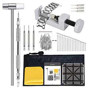 BYNIIUR Watch Band Tool Kit Link Remover, Watch Pin Removal Tool, Band Strap Link Remover Repair Tool, Spring Bar Tool Set for Watch Repair and Watch Band Replacement