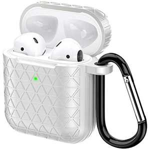 Airpods Case, Accessories Shockproof Case Cover Portable & Protective Silicone Skin Cover Case for Apple Airpods Charging Case (Gray)
