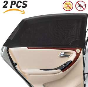CG CARGOOL Car Rear Side Window Sun Shade in 2 Pack - Protects Babies, Kids & Pets From UV, Rays & Sunlight - Premium Mosquito Net Car Sun Shades for Kids - Universal Fit Car Window Shade