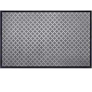 """Mibao Low Profile Shoe Scraper Doormat Indoor Outdoor Floor Mat Entrance Rug for Front Door 36"""" x 60"""", Gray"""