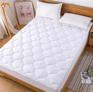 Decroom Twin XL Mattress Pad Dorm,Quilted Mattress Protector,Fitted Sheet Matress Cover,Twin XL