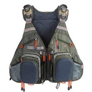 Raprance Fly Fishing Backpack Adjustable Size Mesh Fishing Vest Pack Multi-Pocket Vest and Backpack Combo