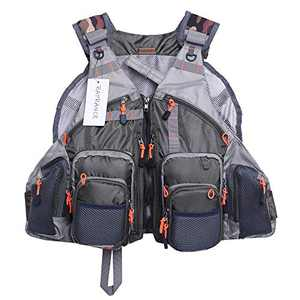 Raprance Fly Fishing Vest Pack Adjustable Breathable Outdoor Activity Vest with Pockets for Men and Women