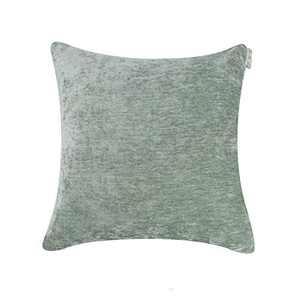 Hahadidi Cozy Decorative Throw Pillow Cover,No Pillow Insert,Farmhouse Square Pillowcase Luxury Velvet Cushion Case Covers for Car/Bed/Sofa/Couch,Gray Green,20''x20''(50x50cm)