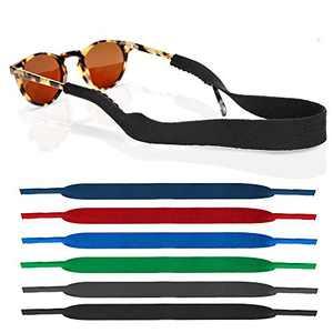 6 Pack Neoprene Glasses and Sunglasses Strap, Anti Slip Sport Eyewear Retainer Holder Strap (Multicolor-6pcs)