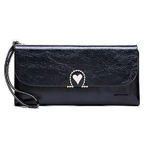 Badiya Women Wristlet Wallet Bifold Envelope Cellphone Clutch Handbag Card Holder