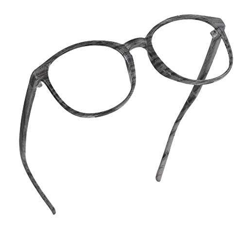 LifeArt Blue Light Blocking Glasses, Anti Eyestrain, Computer Reading Glasses, Gaming Glasses, TV Glasses for Women Men, Anti Glare (Wood, 2.50 Magnification)
