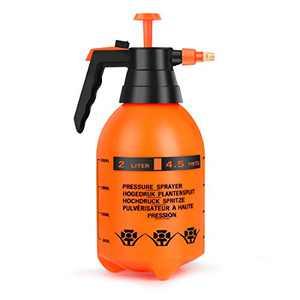 Beewarm Pump Sprayer Garden Sprayer 67.63-Ounce Plant Mister Bottle 2 Liter Water Spray Bottles for Cleaning Solution in Lawn