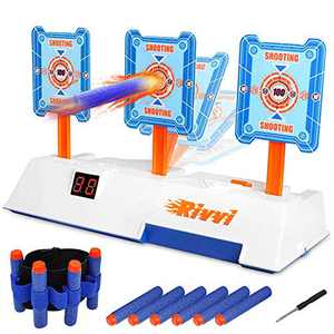 Rivvi Compatible for Nerf-Targets-for-Shooting for Kids, Auto Reset Digital Target Accessories Compatible for Nerf-Guns-for-Boys Rival Zombie Strike Modulus Sniper Mega Elite as Christmas Toys Gifts