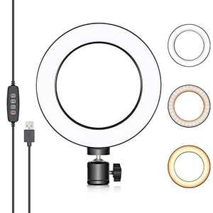 Neewer 6-inch USB Ring Light, Video Conference Lighting for Zoom Call Meeting/Self Broadcasting/Remote Working/YouTube/TikTok Video/Live Streaming with 3 Light Modes, 10-level Brightness