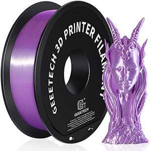 Geeetech Silk PLA Filament 1.75mm for 3D Printer , Metal-Like Shiny Consumable 1kg (2.2lbs) 1 Spool, Dimensional Accuracy +/- 0.03 mm,Metallic Purple