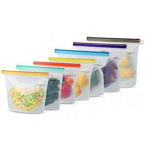 Homelux Theory Reusable Silicone Food Storage Bags Silicone Bags Reusable Bags Silicone Silicone Storage Bags Silicone Food Bags Reusable Silicone Food Bag (3 Large + 4 Medium)