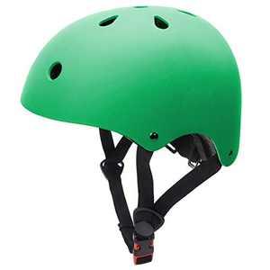 Skateboard Helmet Adult Cycling Bike Helmet Men Women Bike Helmet Classic Commuter Bike Skate Multi-Sport Helmet Adjustable Lightweight MTB Mountain Bike Helmet (Green, S)