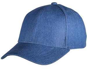 Beurlike Ponytail Baseball Cap High Bun Ponycap Adjustable Mesh Trucker Hats (Washed Jean - Denim Blue)