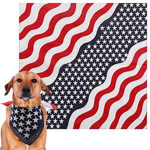 HOMEYEAH Dog Bandana American Flag 100% Cotton Fashion Living Fourth of July Pet Dog Bandanas Memorial Day