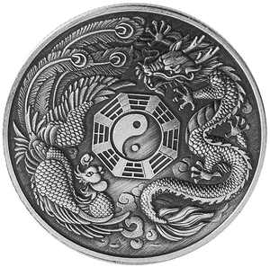 Vosarea Commemorative Coin Chinese Lucky Dragon Collectible for Commemorative Cryptocurrency Enthusiasts Gift Art Crafts Coin