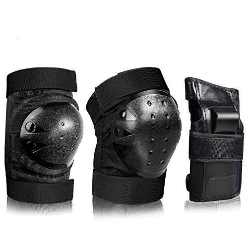 AILUNHUA Adult/Children Knee Pads Elbow Pads Wrist Guards, Men Women 3 in 1 Protective Gear Set, Available for Rollerskating Skateboarding Cycling Scooter etc