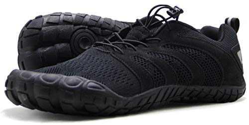 Oranginer Men's Barefoot Shoes Wide Toe Box Comfy Breathable Quick Dry 5 Fingers Shoes for Men Black Size 9.5