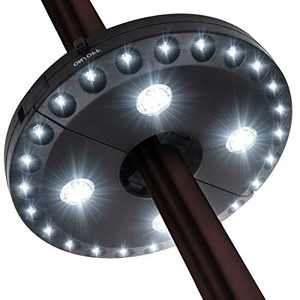 Patio Umbrella Light, 28 LED Lights at 200 lumens 3 Lighting Modes Cordless 4 x AA Battery Operated, Umbrella Pole Light for Patio Umbrellas, Camping Tents or Outdoor Use (Black)