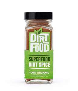 Dirt Food Superfood Dirt Spice | Organic Seasoning Blend for Coffee and Tea | Antioxidant and Alkaline Rich Supplement Powder | Vegan, Keto-Friendly, Plant-Based, Gluten Free, Dairy Free (2.6 Ounce)