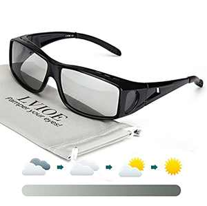 LVIOE Fit Over Photochromic Polarized Sunglasses for Outdoor Activities Wear Over Rx/Prescription Glasses UV400 Protection