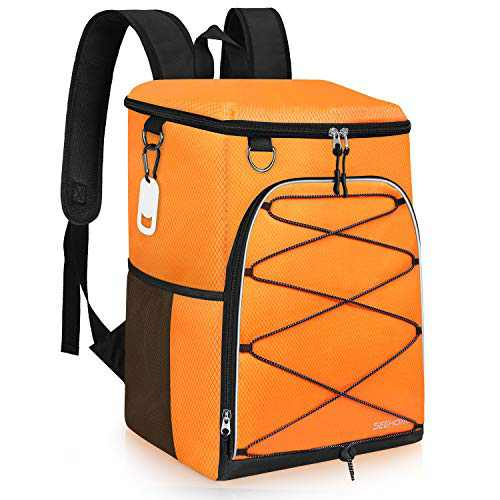 SEEHONOR Insulated Cooler Backpack Leakproof Soft Cooler Bag Lightweight Backpack Cooler for Lunch Picnic Fishing Hiking Camping Park Beach