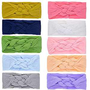 Baby Nylon Knotted Headbands Girls Head Wraps Infant Toddler Hairbands and Bows (ZLZBK450)