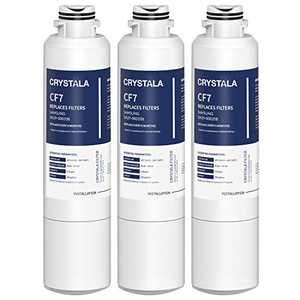 Crystala Filters DA29-00020B Refrigerator Water Filter Replacement for Samsung, IAPMO R&T 53&42 Certified Cartridges Compatible with DA29-00020A/B, DA2900020B, HAF-CIN, HAF-CIN/EXP, 46-9101 - 3 Pack