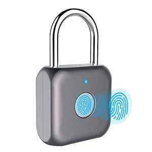 Fingerprint Padlock eLinkSmart Digital Padlock Locker Lock Metal Keyless Thumbprint Lock for Gym Locker, School Locker, Backpack, Suitcase, Luggage (Gray)