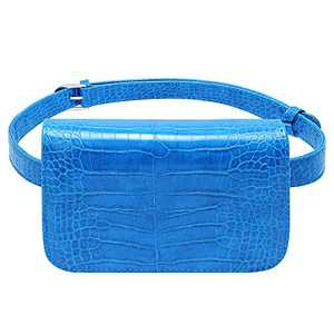 Badiya Women's Mini Waist Bag Fanny Packs Crocodile Leather Cell Phone Pocket