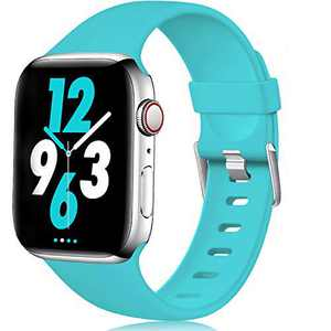 Laffav Compatible with Apple Watch Band 40mm 38mm iWatch Series 5 4 3 2 1 for Women Men, Teal, S/M