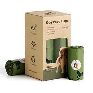 Toozey Dog Poop Bags 8 Rolls, Extra Thick and Leak-Proof Poop Bags for Dogs, 15 Poop Bags Per Roll, 9 x 13 Inches
