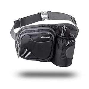 Sharkborough NODLAND Running Belt Hydration Waist Pack with Water Bottle Holder for Men Women Waist Pouch Fanny Bag
