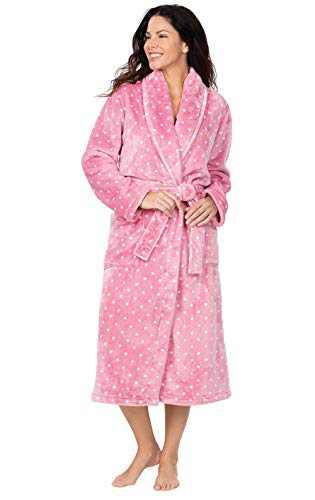 Addison Meadow Women's Bathrobes Long - Women Robe, Pink, L