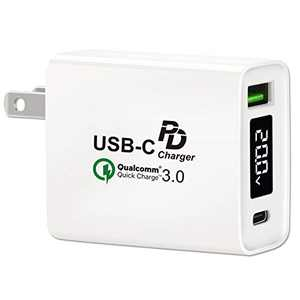 USB C Wall Charger, Type-C PD USB Charger Block 30W, QC3.0 Fast Charger USB Wall Plug Compatible with iPhone 11 Pro Max, MacBook Air iPad Pro, Galaxy and More
