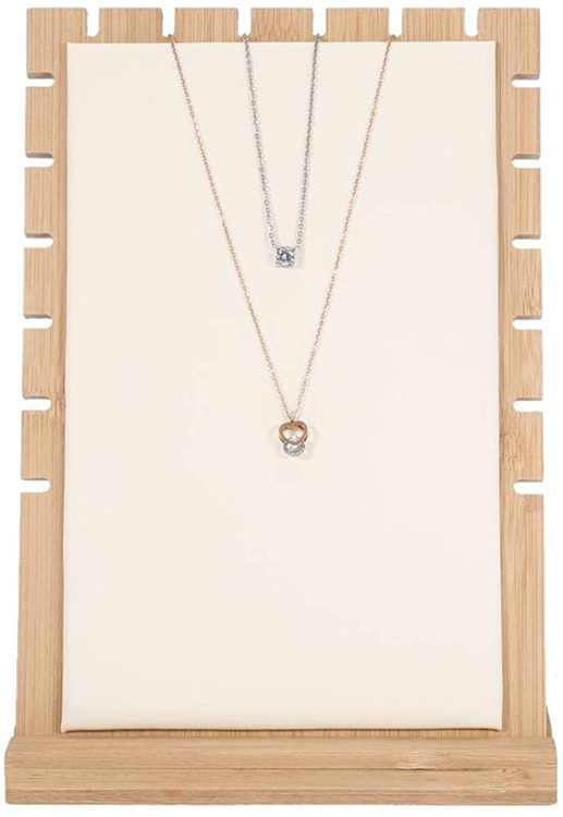TMISHION Necklace/Bracelet/Pendant Display Stand, Jewelry Storage Device, Necklace Display Wooden Frame, Ladies Jewellery Organizer