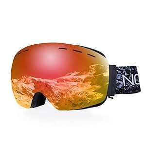 NODLAND S1 Ski Goggles OTG AntiFog Frameless Snowboard Goggles, UV400 Protection