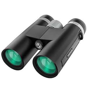 RegeMoudal 12x42 HD Binoculars for Adults, Waterproof Compact Binoculars with Clear Weak Light Vision, Suitable for Bird Watching Hunting Traveling - Prism Bak4 FMC Lens with Smartphone Adapter