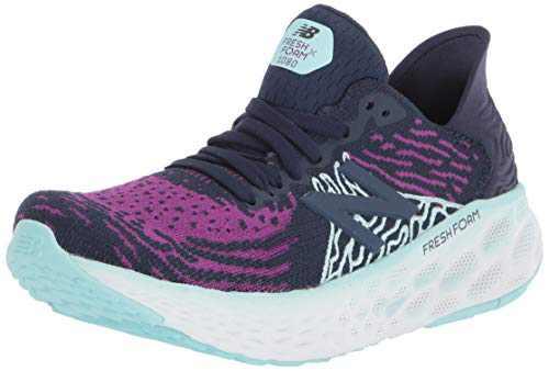 New Balance Women's Fresh Foam 1080 V10 Running Shoe, Plum/Natural Indigo/Bali Blue, 5