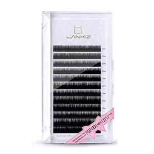 LANKIZ Ellipse Eyelash Extensions 0.15mm D Curl 8-15mm Mixed Flat Eyelash Extension Light Lashes Mink Individual Eyelashes Extension Mink False Lashes Supplies for Salon