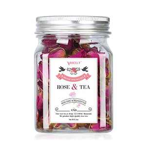 Rose Tea Organic, Vancely Premium Dried Rose Buds Flower Herb Loose Leaf Decaffeinated Fragrant Natural Healthy Herbal Tea GMO-free - 1oz