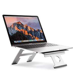 Laptop Stand, Foldable Multi-Functional Aluminum Ergonomic Portable Laptop Riser, Adjustable Stand Holder for Laptop MacBook Pro/Air, HP, Dell, Lenovo, Samsung, Acer, Huawei MateBook