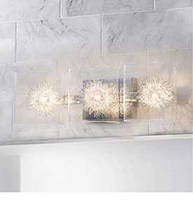 Glass Vanity Light,Bathroom Light Fixtures,Wall Sconce Lighting,Polished Chrome Finish,Bathroom Lighting Over Mirror