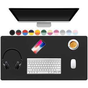 "TOWWI Desk Pad, PU Leather Mouse Pad, 32""x16"" Laptop Desk Mat Blotter, Waterproof Writing Pad Mouse pad, Desk Accessories Office Decor"