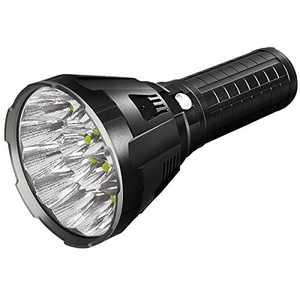 IMALENT MS18 Brightest Flashlight 100,000 Lumens, with 18pcs Cree XHP70 2nd LEDs,Long Throw Up to 1350 Meters Waterproof Powerfull Torch, with OLED Display and Built-in Cooling Tools
