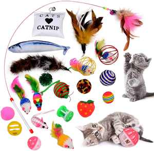 Cat Toys ,Legendog 22PCS Kitten Toys Cat Toys for Indoor Cats Interactive Cat Toy for Kitty and Cats