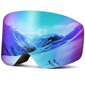 Wantdo Ski Goggles Snow Goggles Snowboard Goggles Revo Ice Blue,VLT 22%