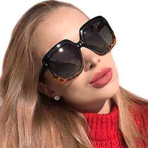 MuJaJa Polarized Sunglasses for Women, Sunglasses-Retro Oversized Eyewear with UV400 Protection(Tortoise)
