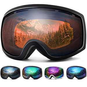 Wantdo Ski Goggles Snow Goggles Cycling Goggles Citrus Orange,VLT 35%